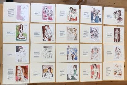 22 Entstehung Künstlerinnen Unikatbuch für Itha Bonitz (c) Susanne Haun
