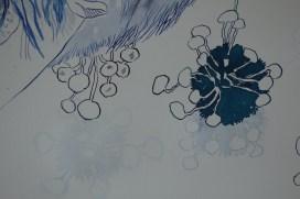 Ausschnitt Der geflügelte Löwe, Tusche auf Aquarellkarton, 65 x 50 cm, Zeichnung von Susanne Haun (c) VG Bild-Kunst, Bonn 2020