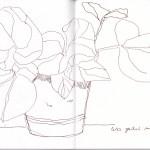 Aus dem Skizzenbuch von Susanne Haun 23.3.2020 (c) VG Bild-Kunst, Bonn 2020