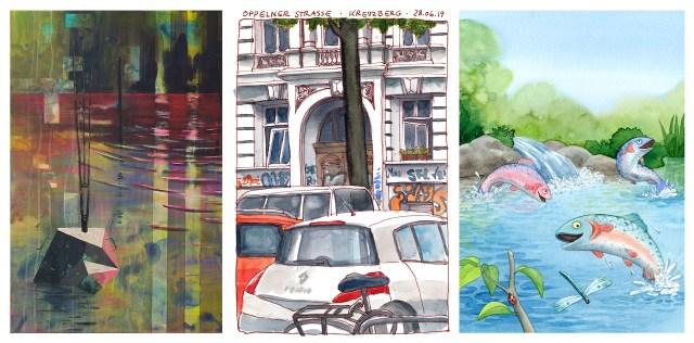 Ich will mich nicht beschränken, Illustration, urban sketching, Gemaelde (c) Werke von Katrin Merle