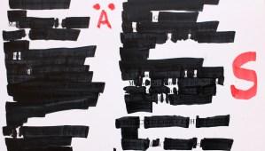 Detail Die Zecke, 30,5 x 22,7 cm, Marker auf Katalog, Aneignung, Zeichung von Susanne Haun (c) VG Bild-Kunst, Bonn 2020