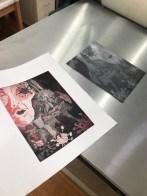 Entstehung - 0 Die Traumdeuterin und Seherin, Aquatinta von 2 Platten, 20 x 15 cm, Radierung von Susanne Haun, (c) VG Bild-Kunst, Bonn 2020