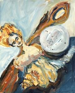 Durch das Auge des Herbstes, Acryl und Tusche auf Leinwand, 30 x 24 cm, Malerei von Susanne Haun (c) VG Bild-Kunst, Bonn 2020