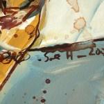 Ausschnitt - Im Herbst einmal schüchertern sein, 30 x 24 cm, Acryl und Tusche auf Leinwand, Gemälde von Susanne Haun (c) VG Bild- Kunst, Bonn 2020