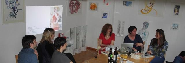 2017 Kunstsalon am Dienstag im Atelier Suanne Haun, Birgit Böllinger (c) Foto von M.Fanke
