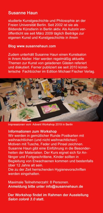 Susanne Haun Flyer Colore - Rückseite
