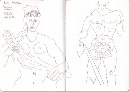 Bad Muskau, Fuerst Pueckler, Skizzenbuch Susanne Haun (c) VG Bild-Kunst, Bonn 2020