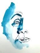 Entstehung - Mein Sinnbild von Ricarda Huch, Zeichnung von Susanne Haun, 32 x 24 cm, Tusche auf Aquarellkarton (c) VG Bild-Kunst, Bonn 2020