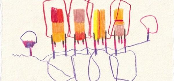 Tagebucheintrag 17.11.2020, Rettet den Wald, 20 x 15 cm, Tinte und Aquarell auf Silberburg Büttenpapier, Zeichnung von Susanne Haun (c) VG Bild-Kunst, Bonn 2020