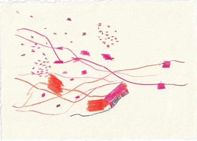Tagebucheintrag 31.10.2020, 10.000 Tote, 20 x 15 cm, Buntstift auf Silberburg Büttenpapier, Zeichnung von Susanne Haun (c) VG Bild-Kunst, Bonn 2020