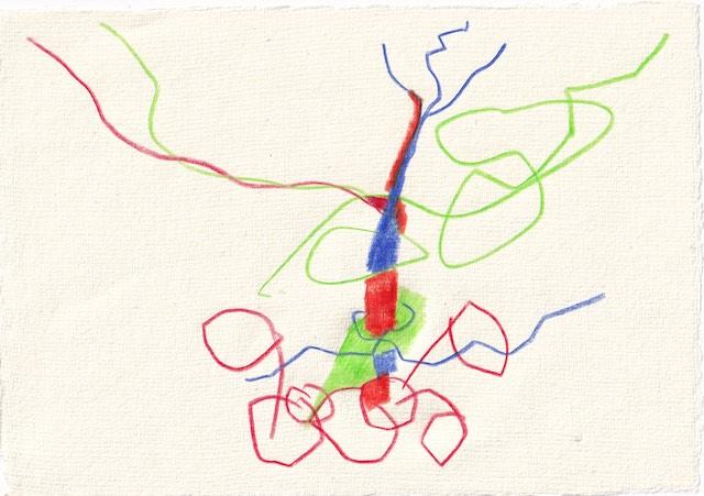 Tagebucheintrag 17.12.2020, Dekameron, Das grünen der Hügel, 20 x 15 cm, Tinte und Aquarell auf Silberburg Büttenpapier, Zeichnung von Susanne Haun (c) VG Bild-Kunst, Bonn 2020