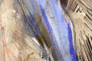 Panta rhei, Alles Fließt, Er schaut nach vorne, Gemälde von Susanne Haun (c) VG Bild-Kunst, Bonn 2021