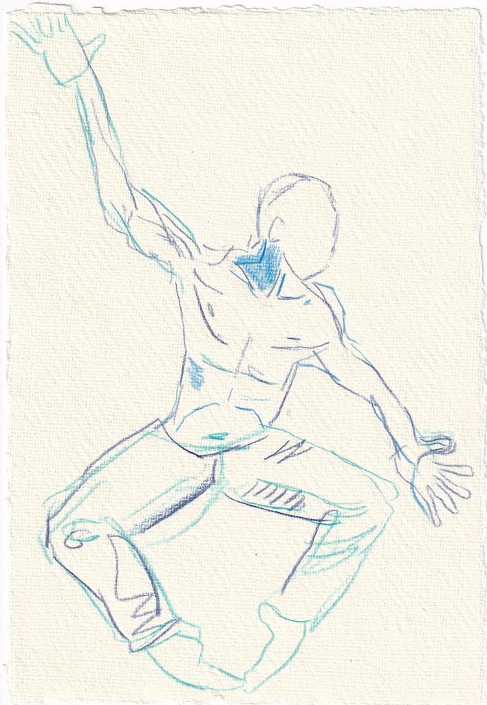 Tagebucheintrag 17.1.2021, Dekameron, Panfilo, 20 x 15 cm, Tinte und Aquarell auf Silberburg Büttenpapier, Zeichnung von Susanne Haun (c) VG Bild-Kunst, Bonn 2020