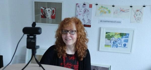 Vorbereitung zur Vernissage Crossart Susanne Haun (c) Foto von M.Fanke