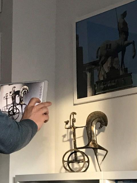Making-of - Schatten der Athena, Foto von Susanne Haun (c) VG Bild-Kunst, Bonn 2021