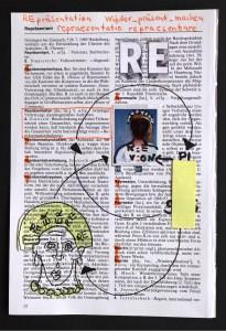 1 Re-Praesentation, .19 x 13 cm, Collage von Susanne Haun