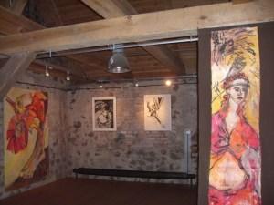12 Der neue Falter aber, der frohe bunte Vogelschmetterling, Gemaelde von Susanne Haun in der Klosterscheune Zehdenick (c) VG Bild-Kunst, Bonn 2021