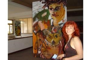 7 Hommage an Basquiat, Gemaelde von Susanne Haun, Ausstellung Kunstkreuz (c) VG Bild-Kunst, Bonn 2021