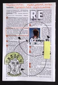 Re-Praesentation, .19 x 13 cm, Collage von Susanne Haun