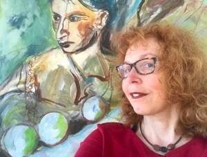 Aufstieg, Leinwand 200 x 140, Malerei von Susanne Haun (c) VG Bild-Kunst, Bonn 2021