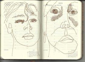 Selbstportrait Tagebuch 27. Woche (c) Zeichnung von Susanne Haun