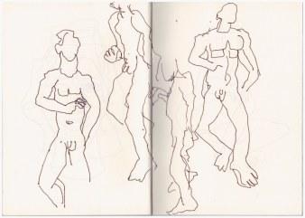 8 Aus meinem Skizzenbuch im Kolbe Hain (c) Zeichnung von Susanne Haun