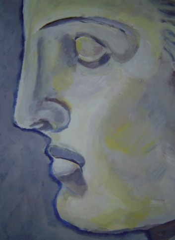 Aphrodite Version 1 - 50 x 70 cm - Acryl auf Tonkarton - 2001 (c) Gemälde von Susanne Haun