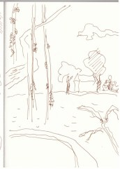 1 Herbstwald (c) Zeichnung von Susanne Haun