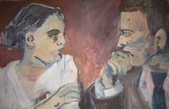 Und nun - Juni 2006 - 150 x 70 cm - Acryl auf Leinwand (c) Gemälde von Susanne Haun