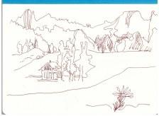 Berchtesgadener Land (c) Zeichnung von Susanne Haun