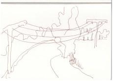 Die Weite Brandenburgs in Neuroddahn (c) Zeichnung von Susanne Haun