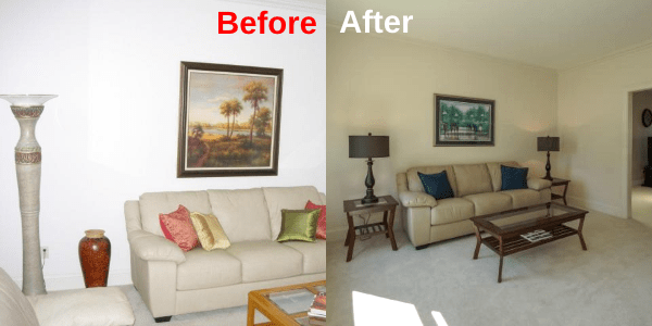 Living Room - BeforeAfter