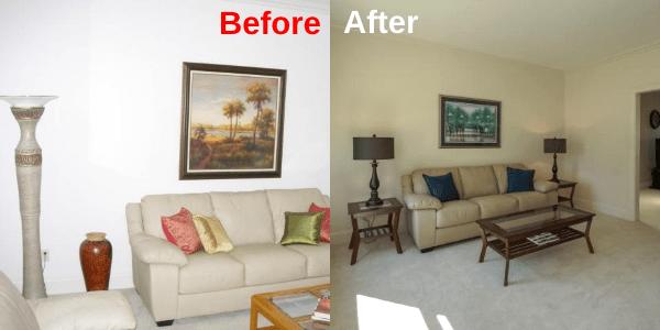 Living Room - BeforeAfter