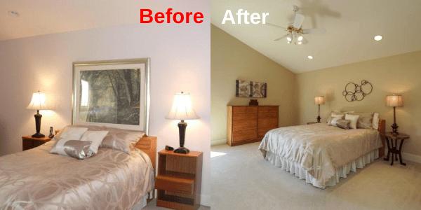 Master Bedroom - BeforeAfter