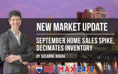 Market Update: September Home Sales Spike, Decimates Inventory