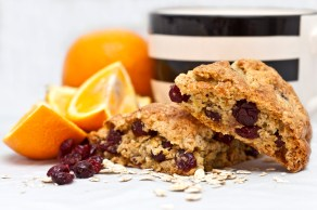 Cranberry, Orange & Oat Scones