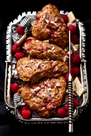 Raspberry & White Chocolate Scones 2