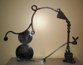 """""""Columba"""", 2010, Welded Steel, Painted, 45""""W x 15""""D x 36""""H"""