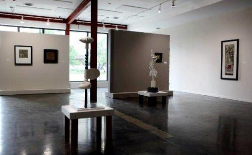 """Installation shot of """"Beneath the Frost"""", 2013, Solo Exhibition at the Peter Robertson Gallery, Edmonton, AB."""
