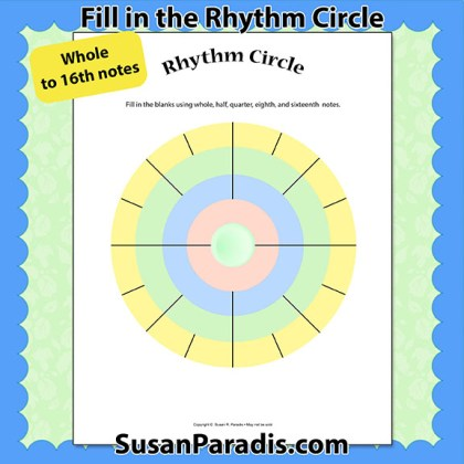 Rhythm Circle for 16ths