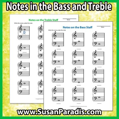Notes On the Bass and TrebleStaff