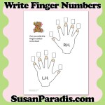 Beginning piano students label the correct piano finger numbers in this cute theory worksheet.
