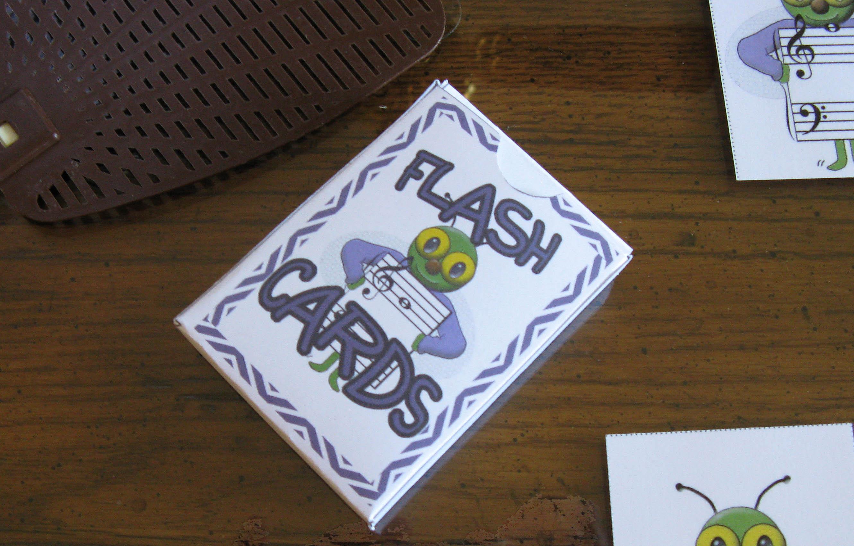 Making A Box For Flash Cards Susan Paradis Piano Teaching