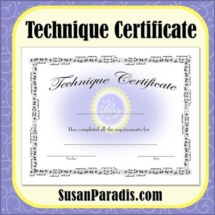 Technique Certificate