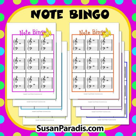 how to play bingo on piano notes