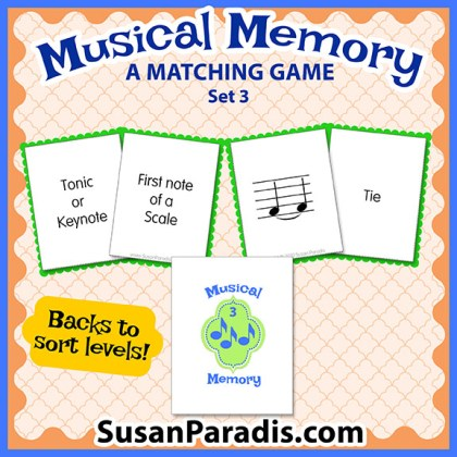 Musical Memory Game Set Three