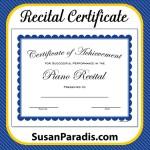 Recital Certificate