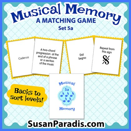 Musical Memory Game Set 5A