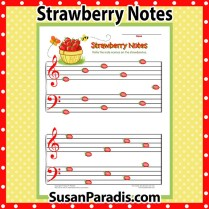 Label the strawberry notes