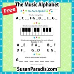 Beginning student practice writing the music alphabet.